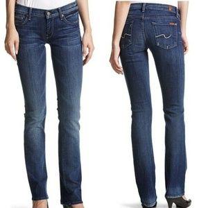 7FAM Straight Leg Jeans Earheart Wash 26